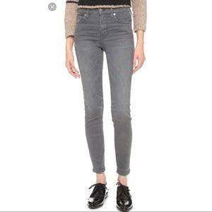 Madewell Grey High Riser Skinny Jeans